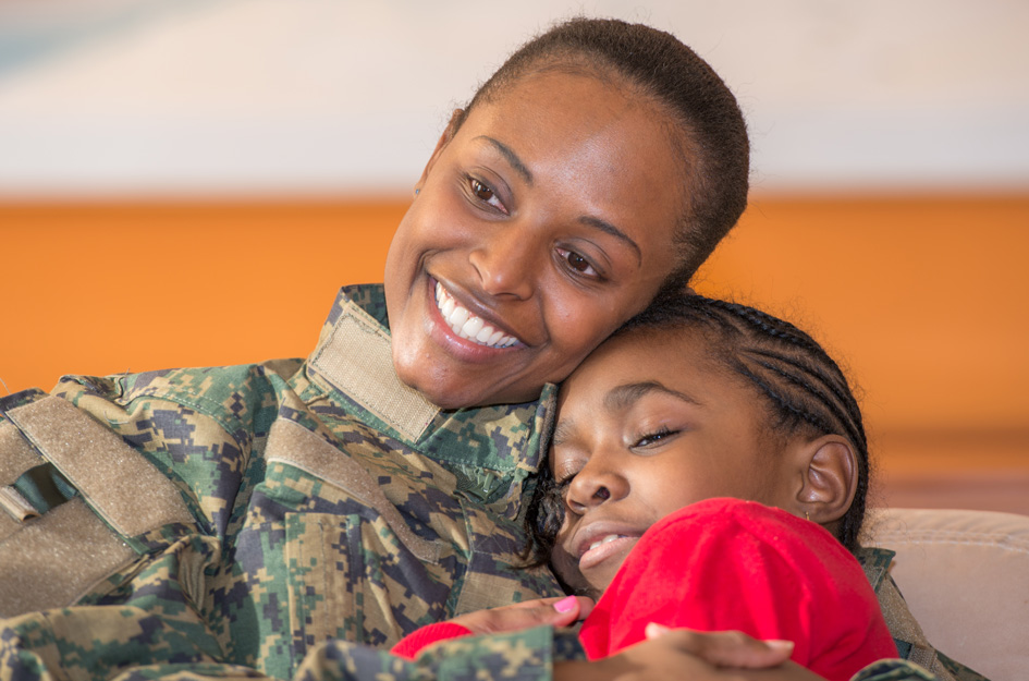 Military Mom and Daughter image